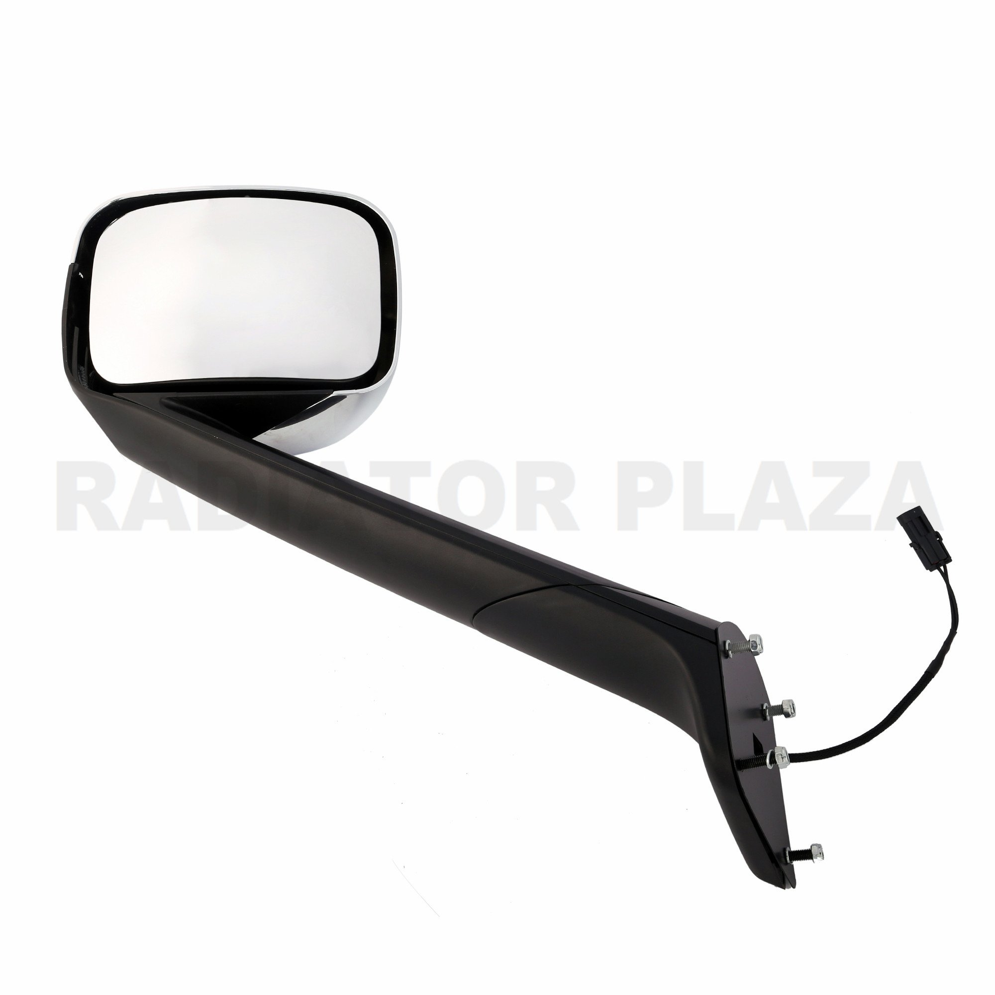 Chrome Hood Mirror Driver Left Side Assembly For 18 - 20 Freightliner Cascadia