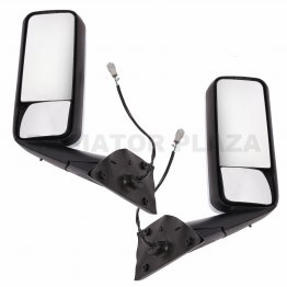 Chrome Mirror Left+Right Side Power Heat Set Pair For 18+ Freightliner Cascadia