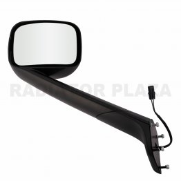 Black Hood Mirror Driver Left Side Assembly For 18-20 Freightliner Cascadia