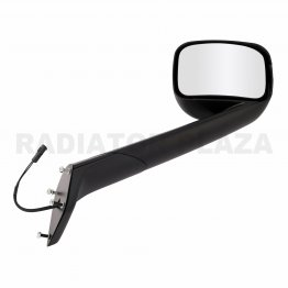 Black Hood Mirror Right Passenger Side Assembly For 18-20 Freightliner Cascadia