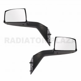 Chrome Hood Mirror Pair Set of 2 Left+Right For 15 16 17 Volvo VNL VNM VNX L+R