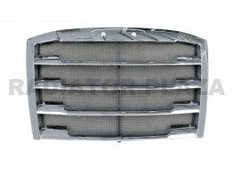 Plated Chrome Grille+Steel Bug Screen Assembly For 2018-2019 Freightliner Cascadia