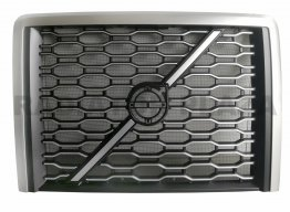 Chrome Grille+Steel Bug Screen Assembly For 2018 2019 2020 2021 Volvo VNL